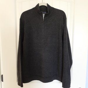 Patagonia Lambswool 1/4 Zip Sweater Gray Size L